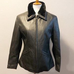 Wilson's Leather Jacket Sz Med